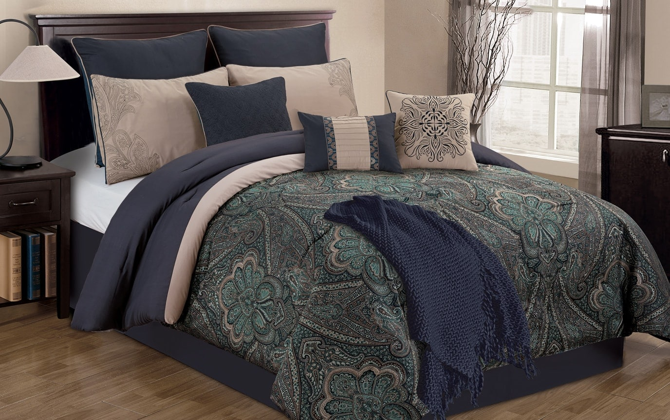 Riley 11 Piece King Comforter Set