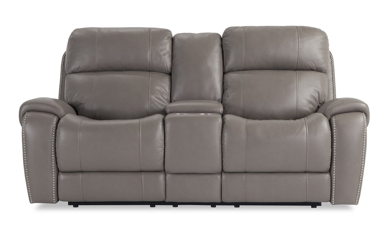 Orion Power Reclining Console Loveseat Outlet Bobscom