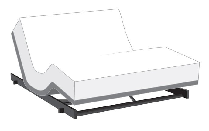Power Bob Low Rider Adjustable Bed With Bob-O-Pedic Hybrid
