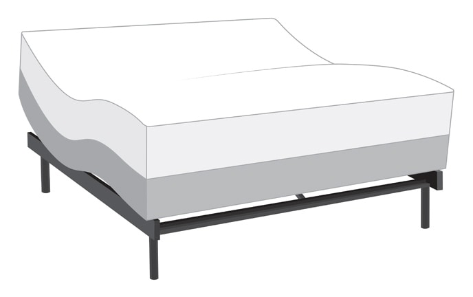 Power Bob Adjustable Bed With Bob-O-Pedic Hybrid