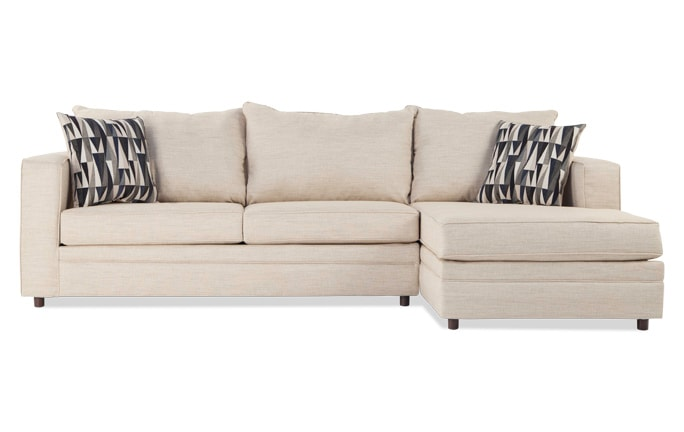 Ivan Beige Left Arm Facing Sectional
