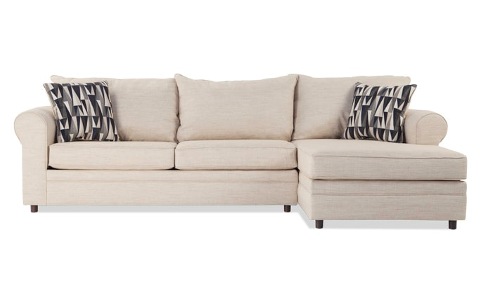 Emma Beige Left Arm Facing Sectional