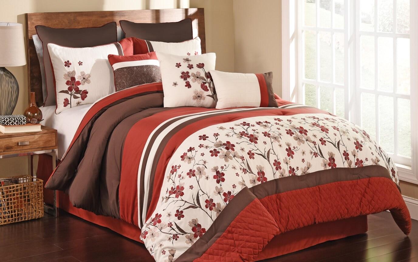 Poppy 9 Piece Comforter Set