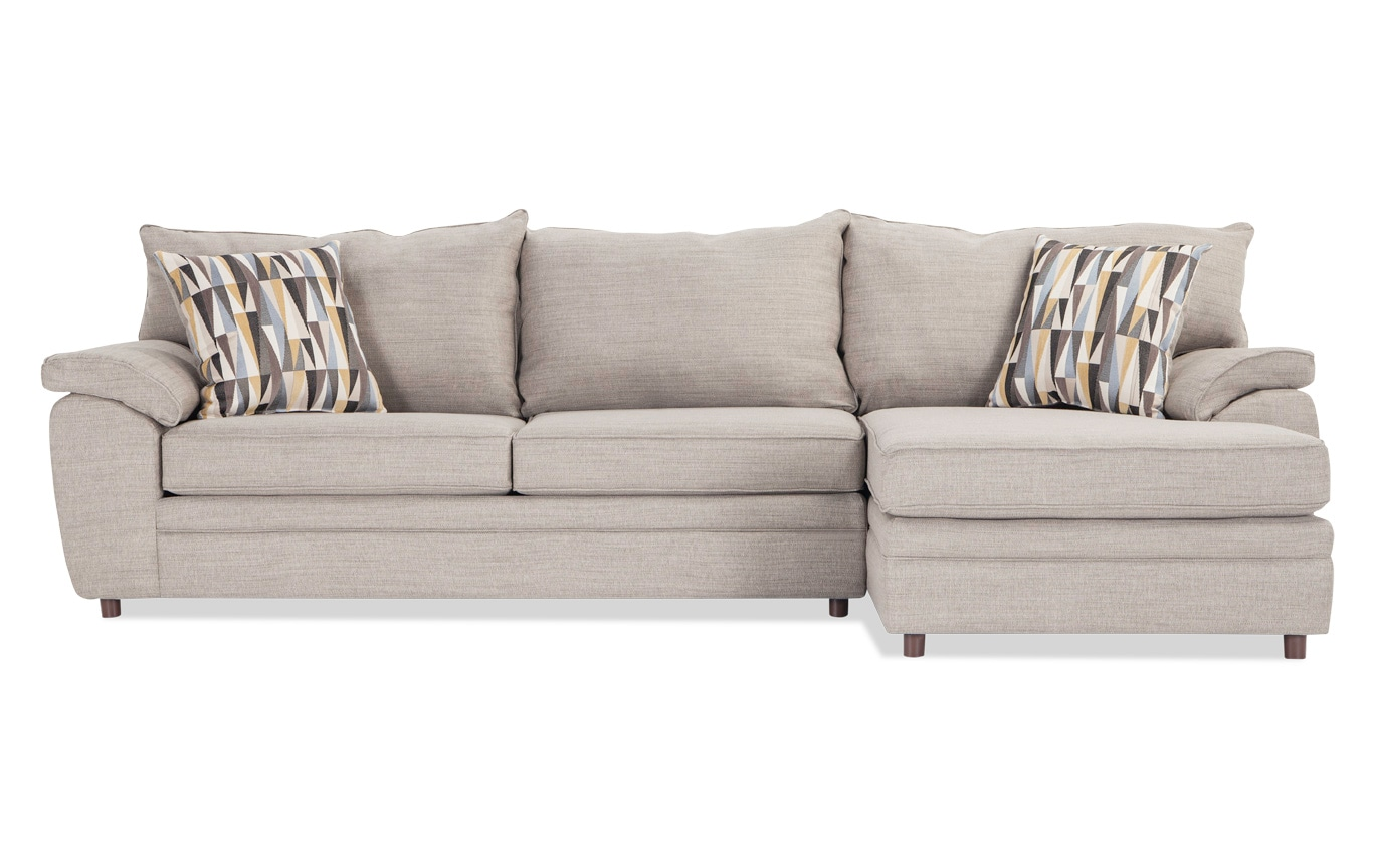 Odin Silver Left Arm Facing Sectional