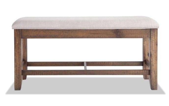 Sonoma Natural Counter Storage Bench