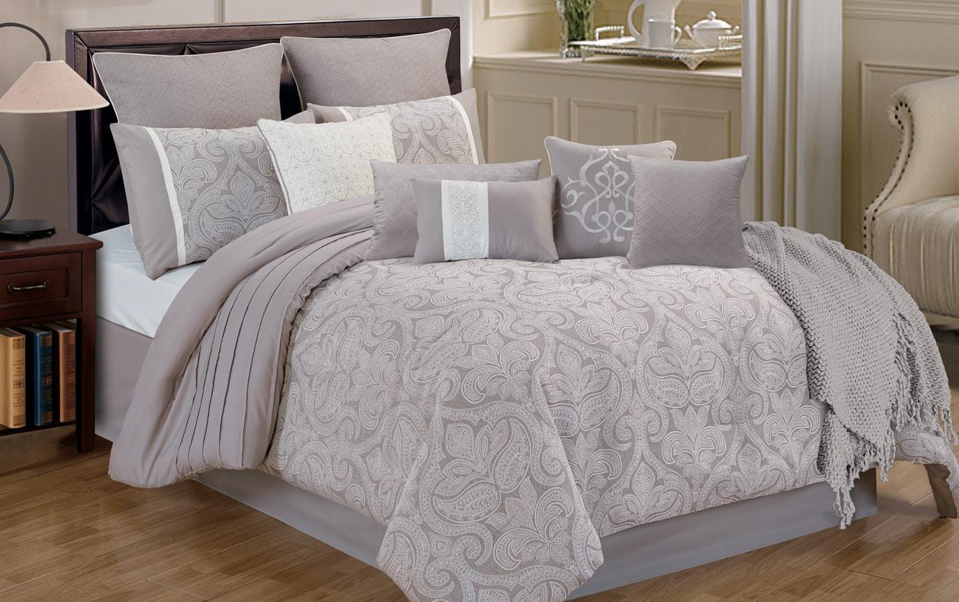 Hollis King 12 Piece Comforter Set
