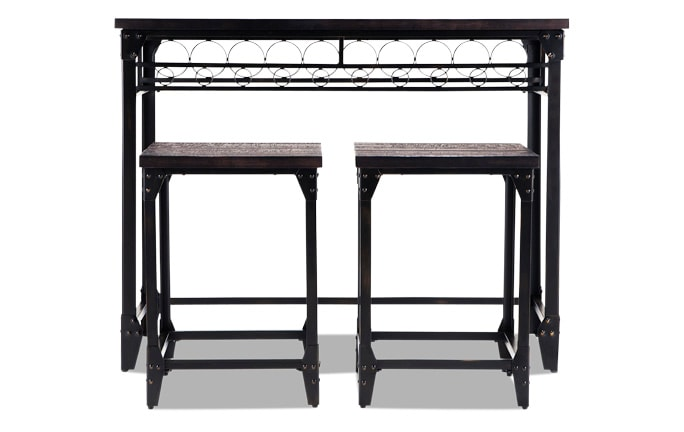 Foundry Bar & 2 Stools
