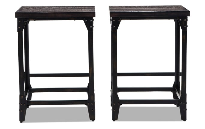 Set of 2 Foundry Stools