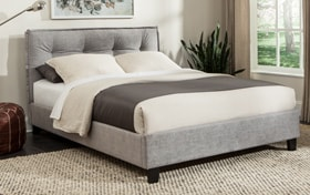Emory Upholstered Twin Gray Bed