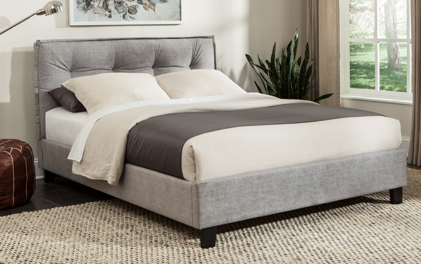 Emory Gray Full Upholstered Bed