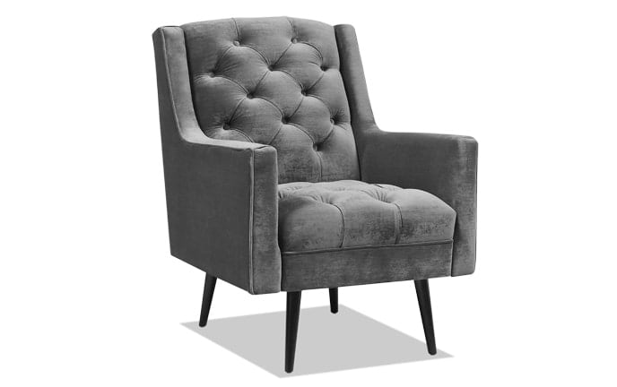 Bryan Gun Metal Accent Chair