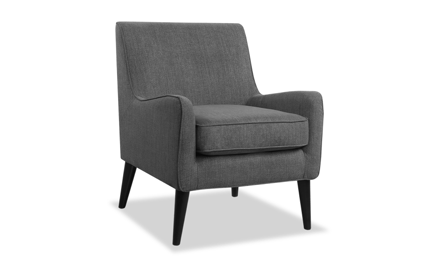 Angie Midtown Charcoal Accent Chair
