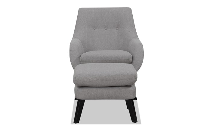 Piper Gray Chair & Ottoman