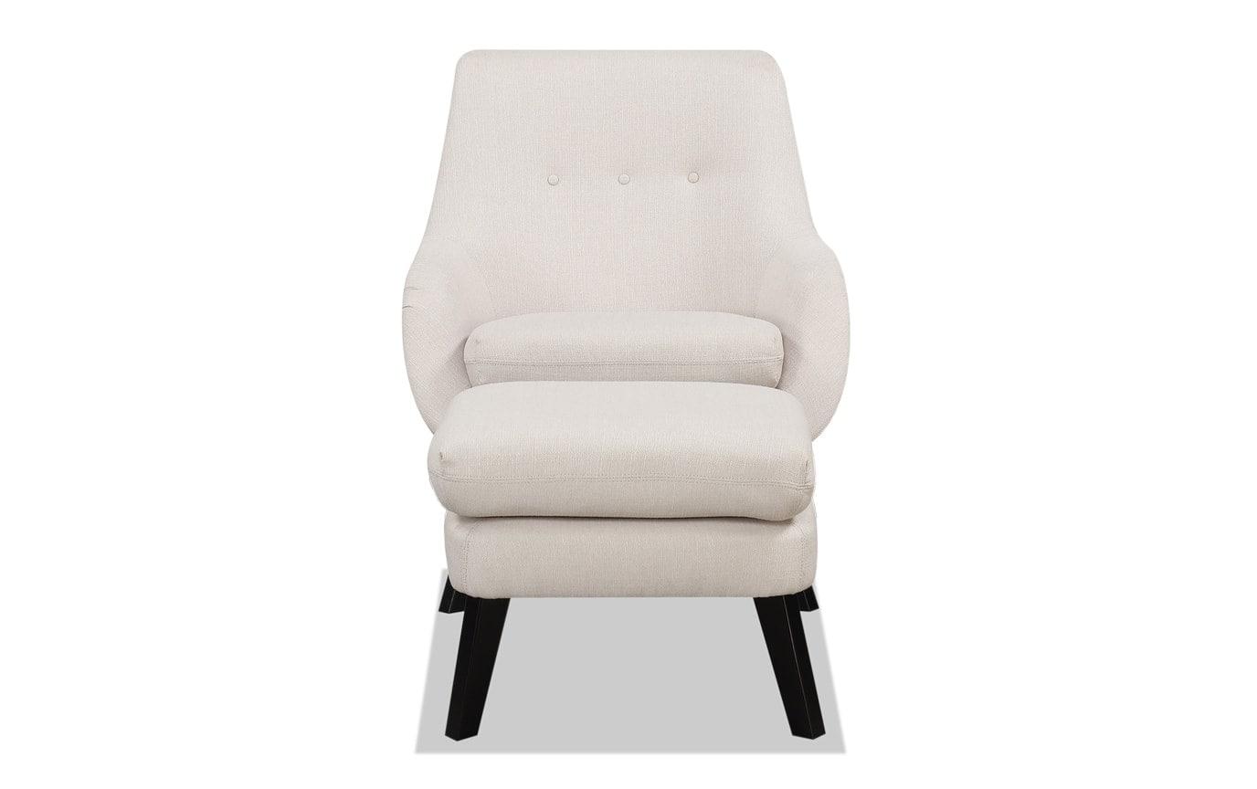 Piper Natural Chair & Ottoman