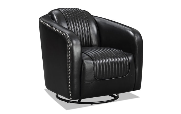 Luxor Black Accent Chair