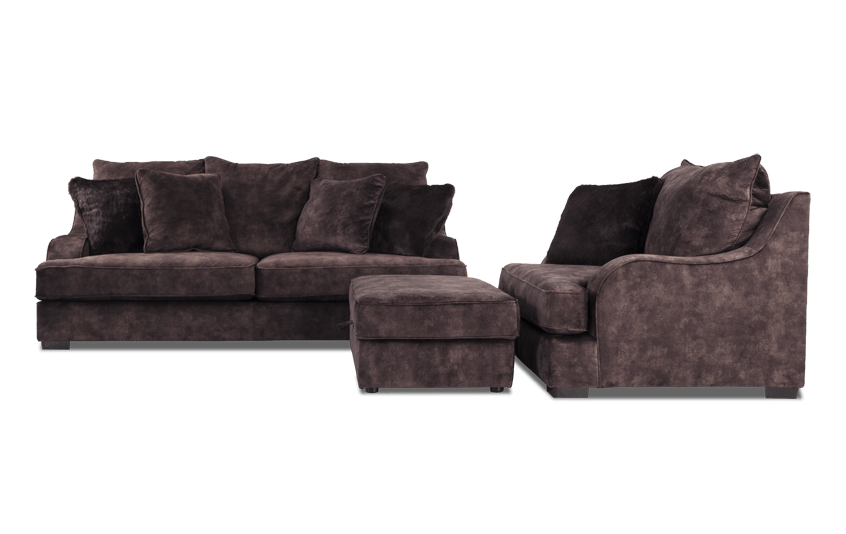 Boulevard Sofa, Chair & Storage Ottoman