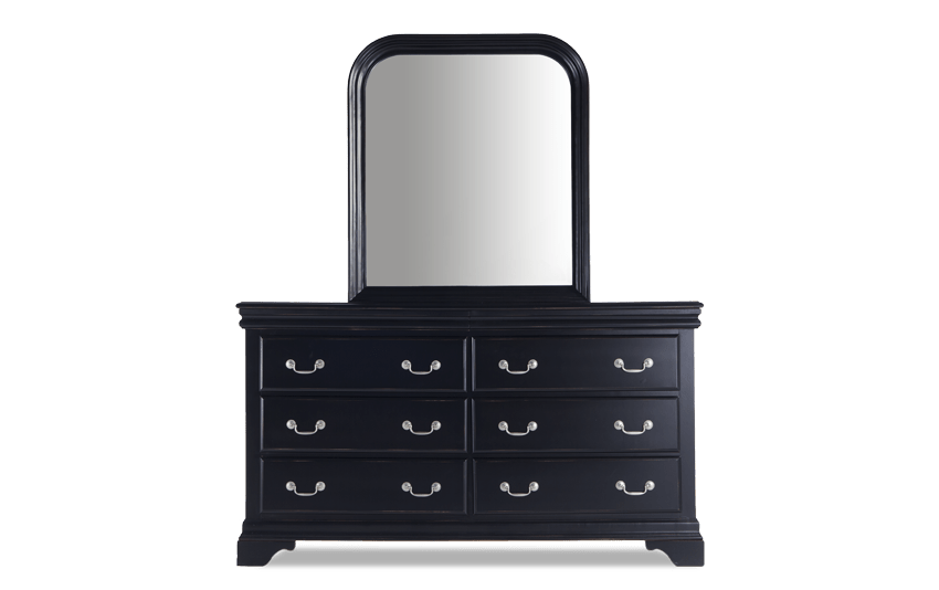 Louie Louie Black Dresser & Mirror