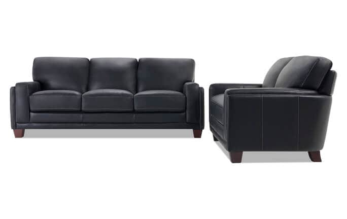 Cole Leather Sofa & Loveseat