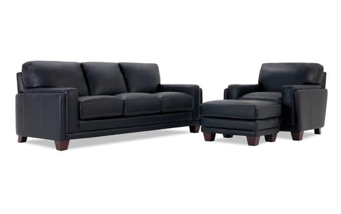 Cole Leather Sofa, Chair, & Ottoman