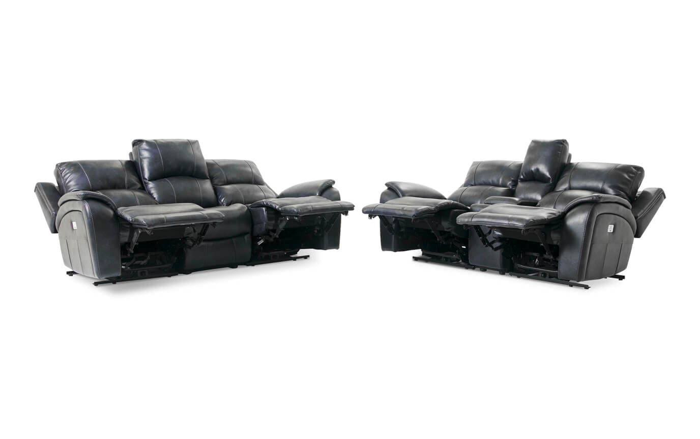 Gotham Power Reclining Sofa & Power Reclining Console Loveseat
