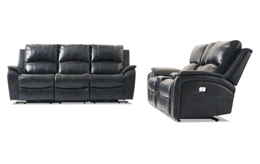 Gotham Power Reclining Sofa & Console Loveseat