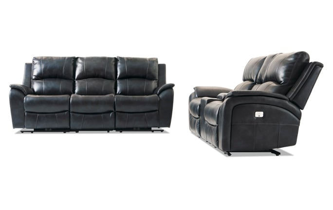 Gotham Power Reclining Sofa & Console Loveseat