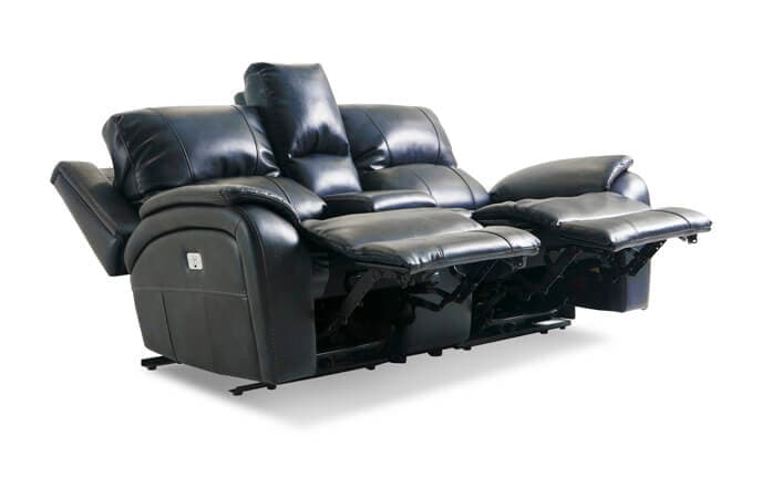 Gotham Power Reclining Console Loveseat