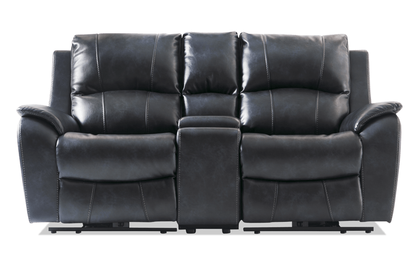 Gotham Power Reclining Console Loveseat Bobs Com