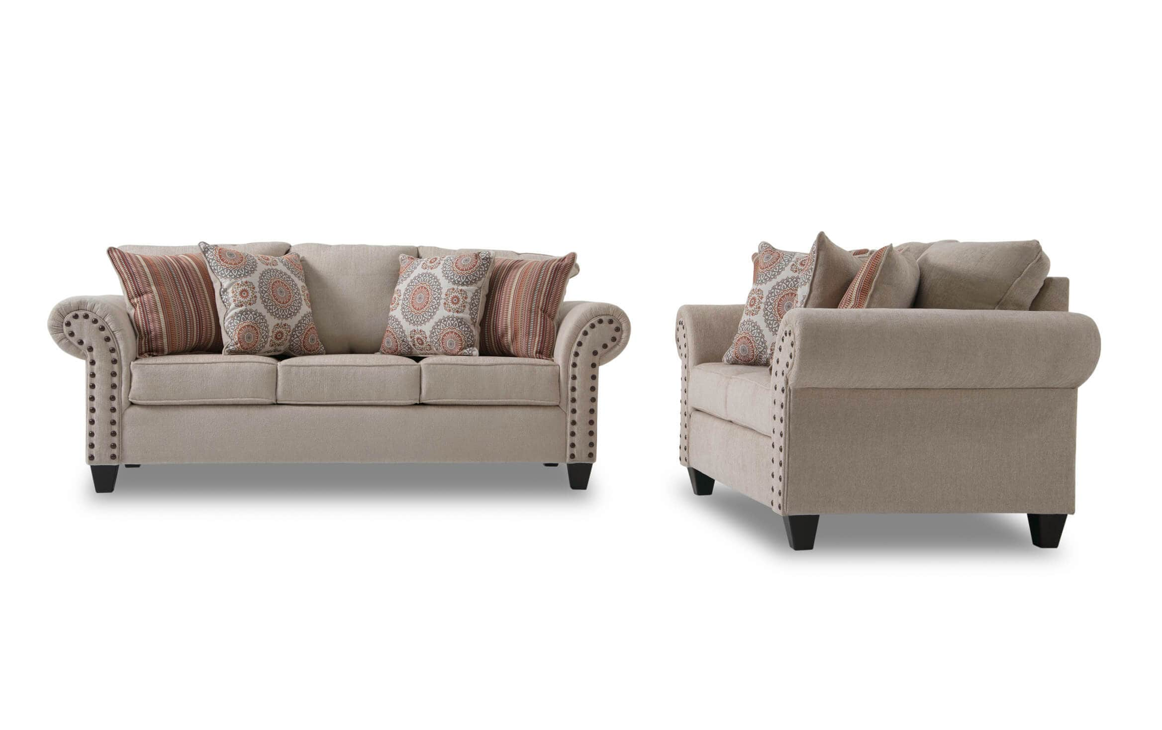 Picture of: Artisan Beige Sofa Loveseat Bobs Com