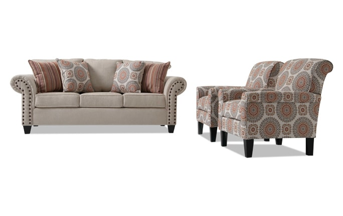 Artisan Sofa & 2 Accent Chairs