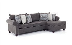 Ashton Charcoal 2 Piece Left Arm Facing Sectional