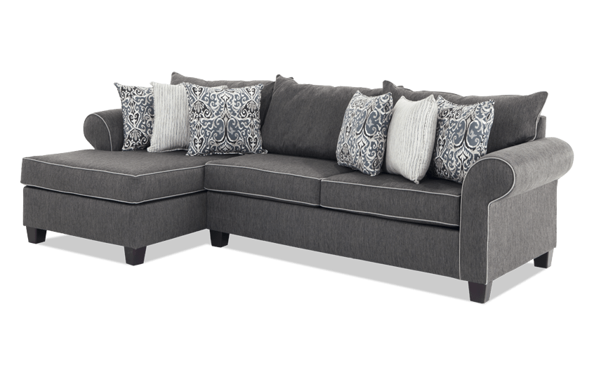 Ashton Charcoal 2 Piece Right Arm Facing Sectional