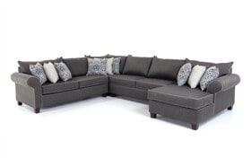Ashton Charcoal 4 Piece Left Arm Facing Sectional