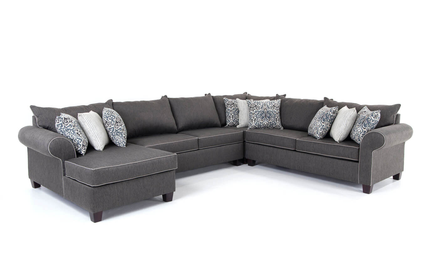 Ashton Charcoal 4 Piece Right Arm Facing Sectional