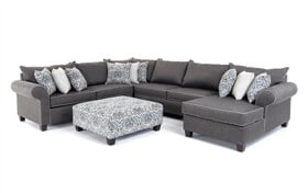 Ashton Charcoal 5 Piece Left Arm Facing Sectional