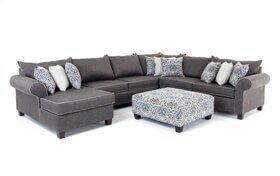 Ashton Charcoal 5 Piece Right Arm Facing Sectional