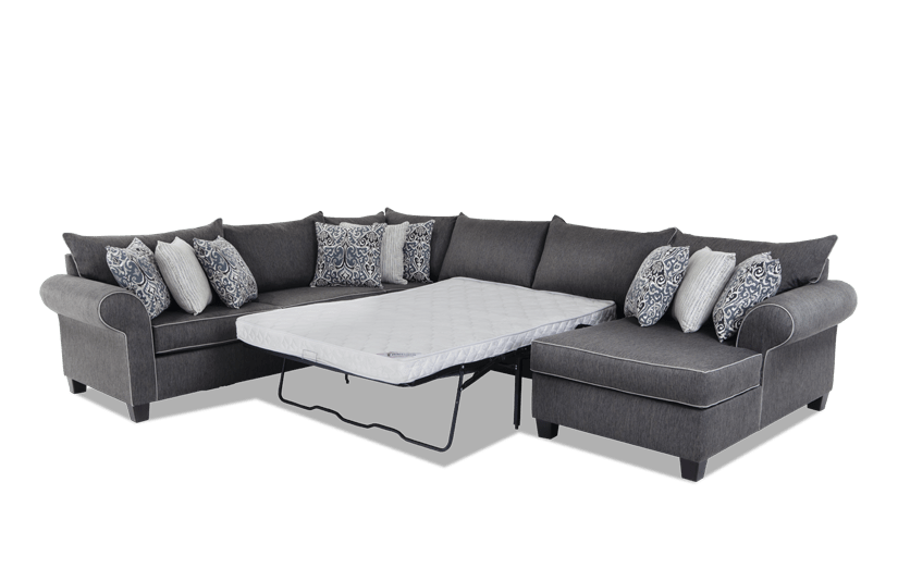 Ashton 4 Piece Left Arm Facing Innerspring Sleeper Sectional