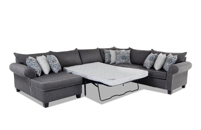 Ashton 4 Piece Right Arm Facing Innerspring Sleeper Sectional
