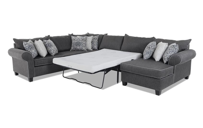 Ashton 4 Piece Left Arm Facing Bob-O-Pedic Gel Sleeper Sectional