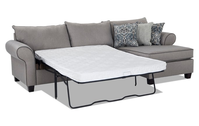 Ashton 2 Piece Left Arm Facing Innerspring Sleeper Sectional