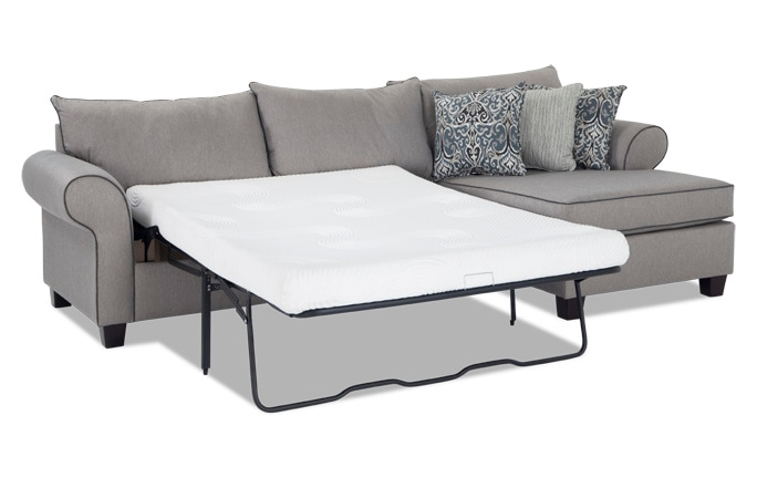 Ashton 2 Piece Bob-O-Pedic Gel Left Arm Facing Sleeper Sectional