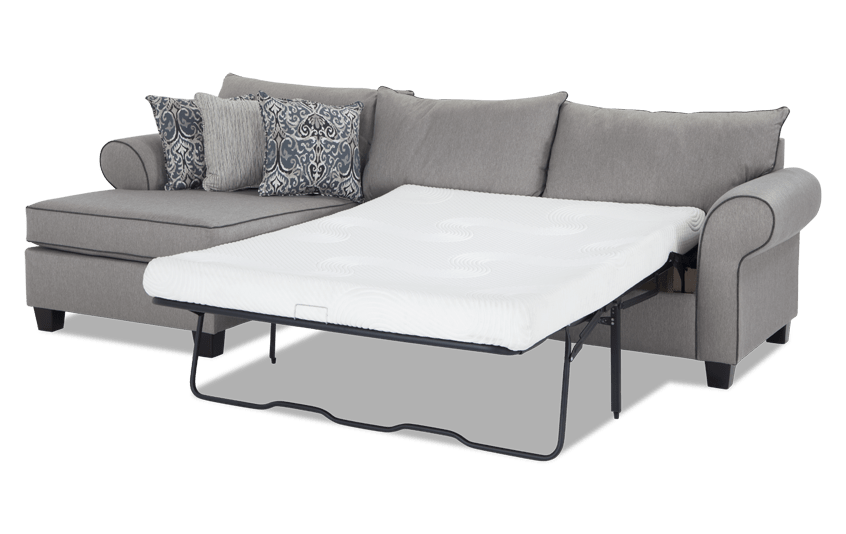 Ashton 2 Piece Right Arm Facing Bob-O-Pedic Gel Sleeper Sectional