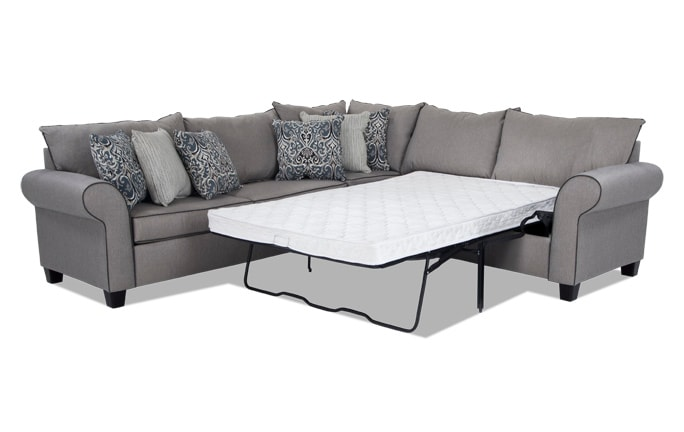 Ashton 3 Piece Full Innerspring Sleeper Sectional