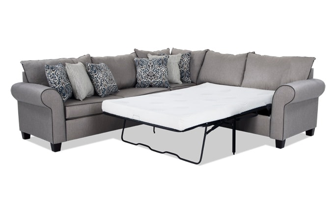 Ashton 3 Piece Left Arm Facing Bob-O-Pedic Gel Sleeper Sectional