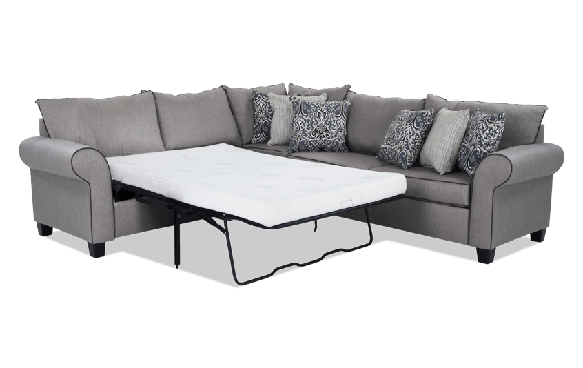 Ashton 3 Piece Bob O Pedic Gel Sleeper Sectional