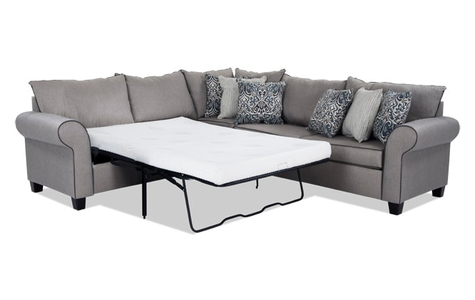 Ashton 3 Piece Bob-O-Pedic Gel Sleeper Sectional