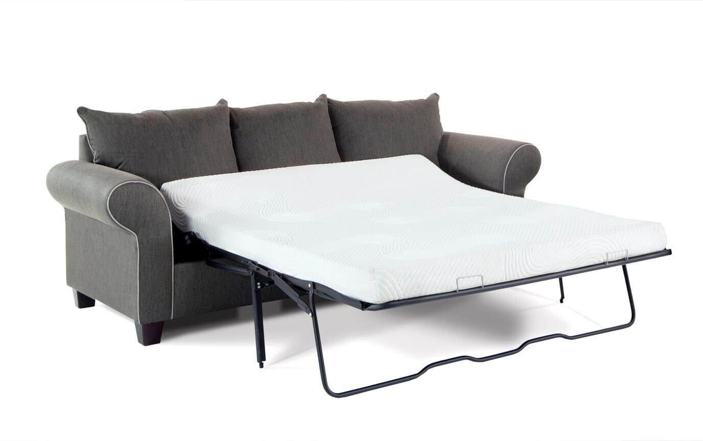 Ashton Charcoal Bob O Pedic Queen Sleeper Sofa Bobs Com