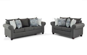 Ashton Charcoal Sofa & Loveseat