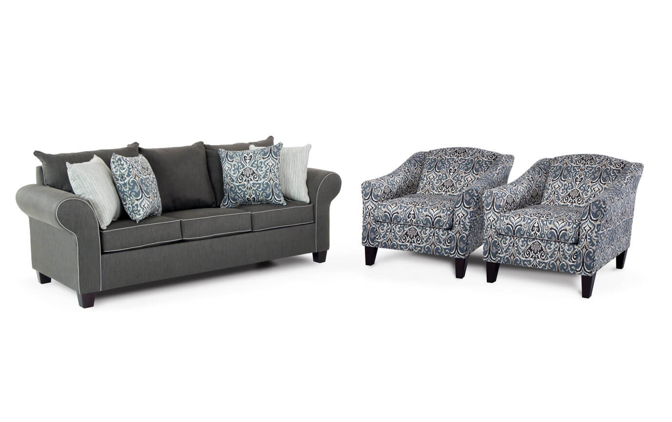 Ashton Sofa & 2 Accent Chairs