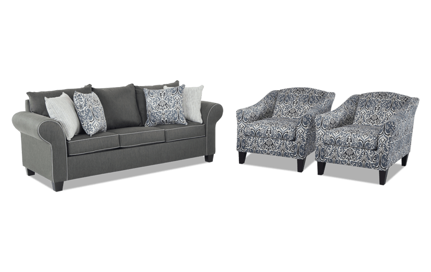 Lovely Ashton Sofa U0026 Two Accent Chairs